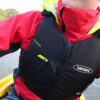 Buoyancy Aid: Black with a Green Trim Being Used