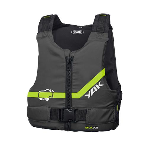 Buoyancy Aid: Black with a Green Trim Front